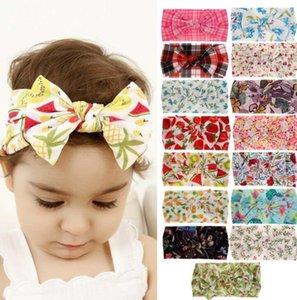 Ragazza Fiocco Fasce Grid Fiore Frutta Stampato Ins Hair Band Bambini bowknot Hairband Accessori Per Capelli Bohemian Plaid Head Wrap GGA2153