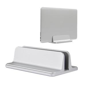 Alumínio Vertical Laptop suporte de mesa economia de espaço Suporte para MacBook Pro Notebook Portátil novo projeto estande suporte ajustável Doca