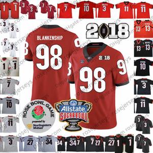 2019 UGA Georgia Bulldogs # 1 소니 Michel 27 Nick Chubb 13 Elijah Holyfield 98 Rodrigo Blankenship 7 Matthew Stafford Rose Bowl Sugar Jersey