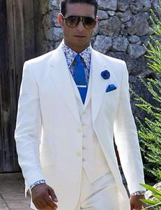 sur mesure pour hommes Poursuites en blanc conviennent groomsmen personnalisé dîner vêtements de cérémonie fait de smokings de mariage 2020