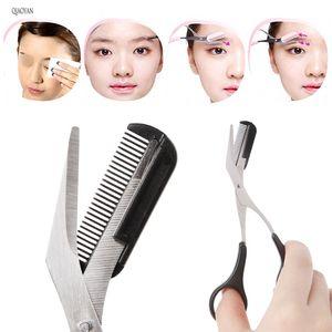 QIAOYAN женщины бровей пинцет гребень ресниц удаление волос Уход резак формирование бровей триммер ножницы