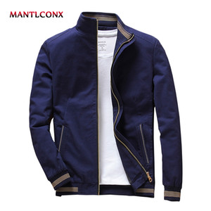 MANTLCONX 2019 Spring Autumn Mens Jacket Stand Collar Jacket Male Blue Black Jackets Casual Male  Clothing Men jaqueta 2019