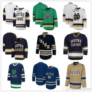 Personalizzato NCAA ND # 9 Anders Lee Hockey maglie Jake Evans Cal Petersen Steven Fogarty Robbie Russo Bryan Rust Riley Sheahan Kyle Palmieri