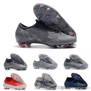 Hommes Bas cheville Bottes Football Academy 12 Vapeurs AG-R CR7 Chaussures de soccer Mercurial Superfly AG Neymar NJR ACC Crampons Football