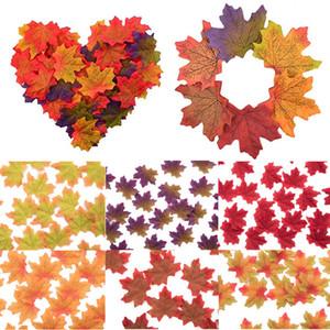 Moda 8cm * 50Pcs / lot artificiale Foglie di acero di simulazione falso caduta foglie di casa della festa nuziale di decorazione