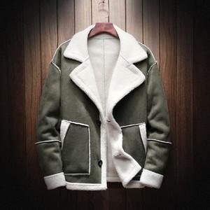 Jacket Mens Casacos Agasalho Casaco masculino Moda com forro de lã quente grossa Overcoat Masculino Misture homens tamanho Brasão S para 5XL