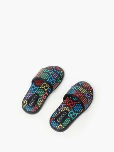 Обувь дешево ребенок обувь мальчика лето обувь тапочки G письмо дизайн одежды ребенка ясельного обуви девушка плоский черный пляж тапочки сандалии 9c-3y