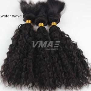 Человек плетение волос Бразильское Virgin 3 Bundle предложения вязания кос волос Бразильское волна воды Braid В Связки влажных и волнистых волос