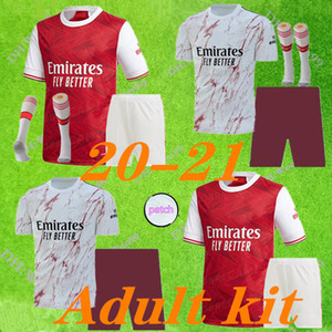 adult kits+socks Arsen soccer jersey 20 21 PEPE NICOLAS CEBALLOS HENRY GUENDOUZI SOKRATIS MAITLAND-NILES TIERNEY 2020 2021 football shirt