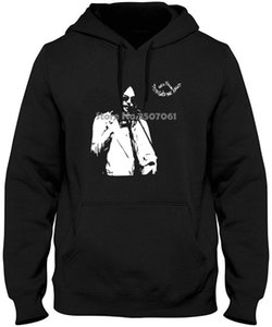 Pride Of The Neil Young Men'S Tonight'S The Night Organic Slim Fit Black Hoodies & Sweatshirts