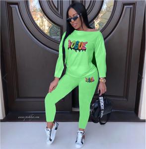 Kadın Payetler 2adet Pantolon Letter Baskılı Spor Seti Casual Kadınlar Tasarımcı Tulum Kadın Hip Hop Suits
