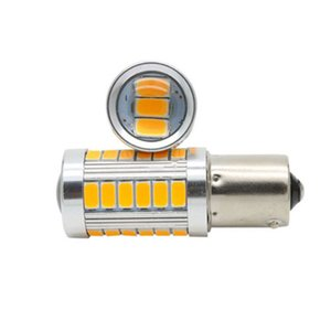 4pcs Âmbar 12V 1156PY Parar luz BAU15S PY21W 33SMD 150 Grau Branco / Amarelo Red Bulb 1156 LED Car sinal Brake-se Estacionamento Lâmpadas