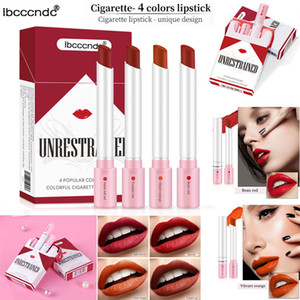Cigarette Lipstick Set Makeup Matte Lipsticks ibcccndc 4 Colors Red Nude Moisturizer Smooth Lipstick Velvet Lip Gloss Kit Waterproof