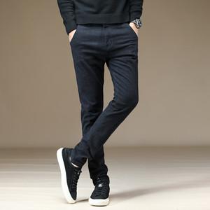 2019 UYUK Automne Hiver ramie Coton Noir Slim coréenne Version élastique tube droit Pantalons simple pour les jeunes hommes Joggers