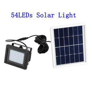 Солнечный свет Датчик Flood Spotlight 54 LED IP65 Безопасность Свет Открытый Настенные светильники для сада Backyard Проем Гараж Патио Сарай Крыльцо