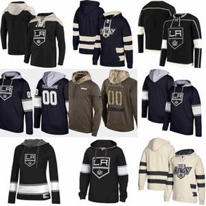 Los Angeles Kings Hoodie Drew Doughty Anze Kopitar Jonathan Quick Wayne Gretzky Jeff Carter Ilya Kovalchuk Hockey Jersey Sweatshirt genäht