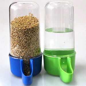 Plastic Automatic Bird Pet Feeder Food Water Bottle Feeder Storage Parrot Cage Drink Container 50 200ml