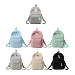 Preppy Style Soft Fabric Backpack Female Corduroy Design School Backpack For Teenage Girls Striped Backpack Black Rose Women