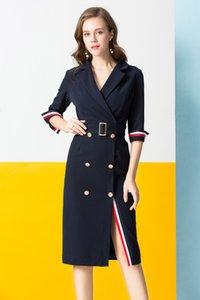 Kadınlar Uzun Yün Ceket Elbise Moda Ince Kruvaze Palto Rüzgarlık ceket Bayanlar Yün Karışımları Coat Ile Kemer Boyutu S-XL