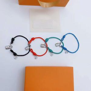 Novo bloqueio caridade selvagem casal mão desenhador designer de corda pulseira de luxo de jóias mulheres pulseiras
