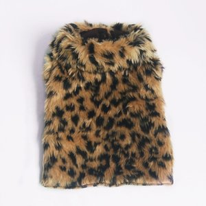 Manteau de manteau de léopard d'automne d'hiver de chien pour des chats Teddy caniche d'animal de compagnie poméranien chaud veste mignonne princesse levrette fête d'anniversaire