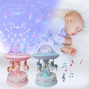 Детские игрушки Luminous Night Sleep Light Carousel Music Player Projector Lamp младенца Дети LED сна умиротворить лампы Подарки