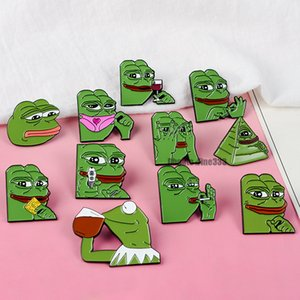 Pepe The Frog Design Broche de dibujos animados Pin Insignia Esmalte Fruta Animales Cráneo Broche Aleación Mochila Insignia Alfileres Joyería Para Regalo