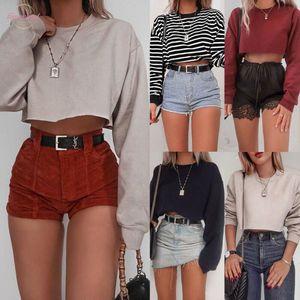 Womens Hoodie Sweatshirt Jumper Tees Crop Top Coat Sports Pullover Tops Autumn Winter Coat Women Polyester Streetwear