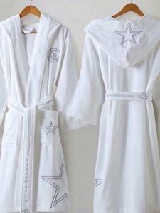 Le Vase de luxe Barocco Jacquard peignoirs Medusa Designer Nuit Robes 100% coton assorti même design Serviettes de bain Ensembles Royal Home Decors