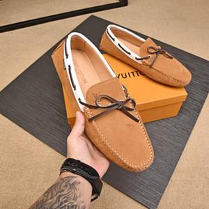 Erkek moda marka klasik yeni rahat ayakkabılar ziyafet düğün lüks sürüş ayakkabı moda erkek bezelye ayakkabı