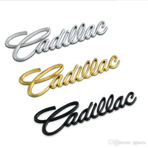 Cadillac ATS-L XTS CT6 CT6 XT5 için 3D Metal Cadilla Araç Yan Bagaj Amblem Rozet Sticker Çıkartmaları