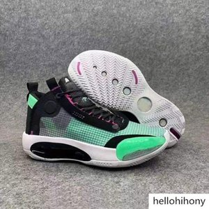Free Shipping 2019 34 XXXIV Eclipse And Blue Void Basketball Shoes Men Black White Green Sports Shoes With Box