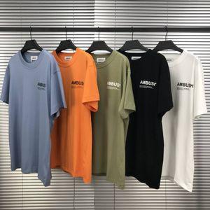 5 couleurs Hommes T-shirts High Street EMBUSCADE réfléchissant femmes manches courtes 18AW T-shirt basique American Apparel Fashion manches courtes T-shirt décontracté