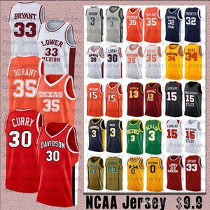 30 Curry NCCA Jersey Kawhi Leonard Homens James Iverson 23 LeBron Durant 13 Harden Stephen College Basketball Jerseys Russell Westbrook 0
