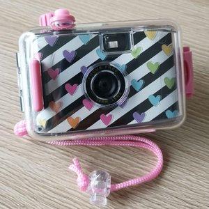 SUC4 Kalp Desen Retro Film Kamera Mini Çocuk 5m su geçirmez Point-and-çek kamera