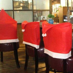 Silla de Navidad nuevo estilo Covers Santa Claus Red Hat para la cena de la decoración del partido del hogar Decoración de Navidad Decoración ZZA1353