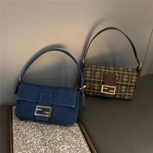 Borse medievale Borsa Baguette di svago di modo retro piccolo quadrato Tote Bag per le donne borsa