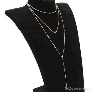 M MISM Fashion Multi Layer Necklace Long Gold Chain Boho Jewelry Women Metal Kettingen Voor Vrouwen Heart New Bff Erkek Kolye