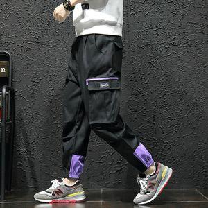 2019 multi tasche cargo Harem Jogger Pantaloni Uomo di Hip Hop Fashion Casual Traccia Pantaloni Harajuku Hipster Sweatpants