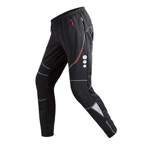 Men's Cycling Pants Athletic Pants Windproof Thermal Fleece Winter Cycling Pant Breathable Bike Riding Sports Trousers
