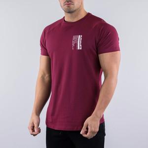 Erkek Yaz Spor Salonları Rahat TShirt Üst ALFALETE Spor Vücut Geliştirme Kas Erkek Kısa Tişörtleri Pamuk Baskı Streetwear Tee Tops