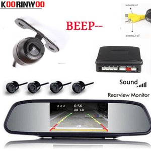 Koorinwoo 2020 Parktronic Car Parking Sensor 4 Video Radars Car Monitor Rearview camera Parking System Reversing