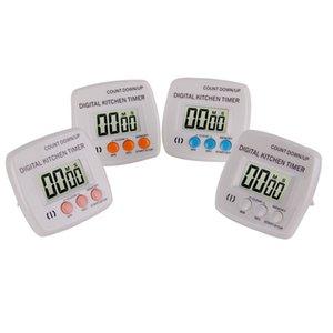 Pantalla LED Calculadora cuadrada Recordatorio electrónico Medidor de tiempo Ecológico Shell Cocina Temporizador de horneado con color blanco amarillo 8hx J1