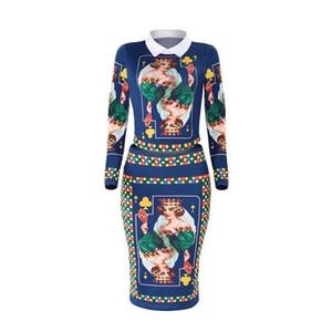 Tenues Femmes Plum Blossom Komen Imprimer Costume Doll Dress Apporté Lapel Neck femmes deux pièces d'été