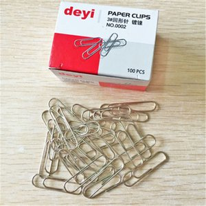 80pcs / scatola clip di carta in metallo per busta business busta multi funzione ufficio archivio forniture articoli cancelleria all'ingrosso