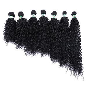Massa mulheres Kinky Curly Granéis Cabelo massa trança Preto tranças Moda Afro Curly bebê Hair Extension Tissage cutícula Alinhados