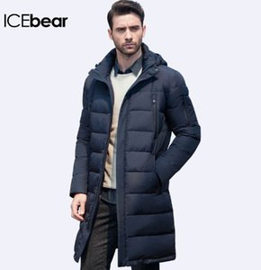 ICEbear New Clothing Giacche Business Long Thick Winter Coat Uomo Solid Parka Fashion Overcoat Capispalla 16M298D