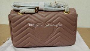 5A лучшее качество Marmonts Small 443497 26 см маленькая натуральная кожаная цепочка сумка с пыльником коробка DHL Бесплатная доставка