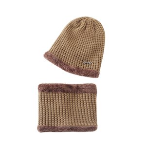 2020 Fleece Contrast Colors Knitted Warm Winter Hats For Kid Hat+Scarf Two Piece Set gorros mujer invierno chapeau femme