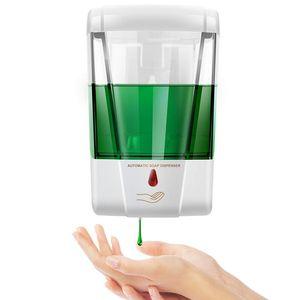 Otomatik sıvı sabunluk 700ml Duvar Banyo Mutfak dispenseri Fotoselli Sensör Kızılötesi Sabun Dispenseri Monteli